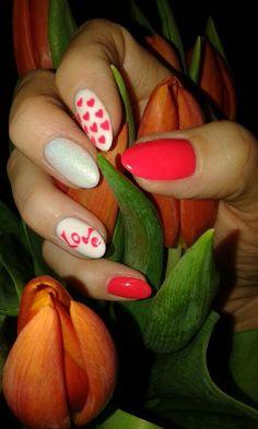 Miłość na Paznokciach:) by Monika HR-Studio Hanna Roszkowska Wysokie Mazowieckie Nails, Finger Nails, Ongles, Nail, Nail Manicure