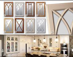 Cabinets: Showplace Gothic Mullion Glass Doors