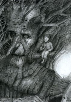 Dariusz Skitek - Old Ent and Young Hobbit