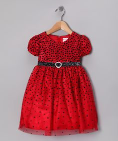 Take a look at this Red Polka Dot Dress - Toddler on zulily today!