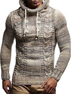 5541717226 Leif Nelson LN20227 Men's Knitted Pullover. Pullover Hoodie, Hoodie Jacket  ...