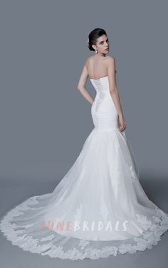 bd5b9e8dcc Charming Sweetheart Backless Mermaid Dress With Ruching – June Bridals
