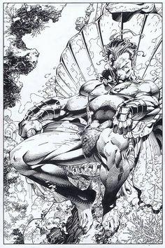 Prince Namor By Jim Lee inked by Scott Williams