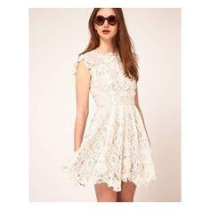 lace dress with applique details