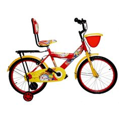 "Buy Addo India 20"" Nobita Red Yellow Girls/ Kids Bicycle by undefined, on Paytm…"