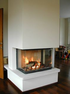 Villa Stone house: Fireplace or convection fireplace? Villa, House, Fire, Design, Stone, Home Decor, Modern, Homemade Home Decor, Home