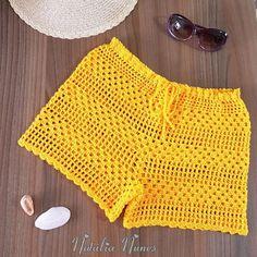 Crochet Shorts Pattern, Crochet Pants, Crochet Bra, Crochet Crop Top, Crochet Clothes, Artisanats Denim, Crochet Fashion, Crochet Designs, Couture