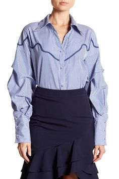 Can't Buy Me Love Stripe Blouse
