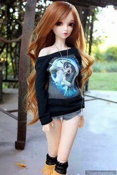This doll defines me Anime Dolls, Ooak Dolls, Blythe Dolls, Girl Dolls, Cute Cartoon Pictures, Cute Cartoon Girl, Barbie Fashionista, Beautiful Barbie Dolls, Pretty Dolls