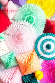 FANS  oh happy day now has a shop!!  http://shop.ohhappyday.com/products/tissue-paper-fans-21?variant=1256727079