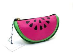 TARTAN + TWINE COSMETIC BAG GREEN & PINK WATERMELON MAKEUP CASE ~ NEW #TartanTwine