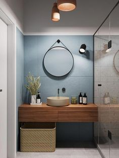 Mid Century Modern Bathroom Mirror - Mid Century Modern Bathroom Mirror , 13 Incredible Mid Century Modern Bathroom Ideas for A Unique Simple Bathroom Designs, Modern Bathroom Design, Bathroom Interior Design, Home Interior, Interior Paint, Interior Ideas, Interior Inspiration, Bathroom Design Inspiration, Bad Inspiration