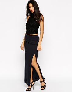 ASOS Maxi Skirt With Top Layering