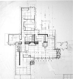 Solaripedia Green Ture Building S In-Frank Lloyd Wright House Plans Usonian Vintage House Plans, Modern House Plans, House Floor Plans, Frank Loyd Wright Houses, Usonian House, Green Architecture, Historic Architecture, Architecture Graphics, Prairie House