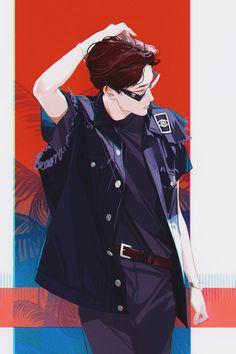 bts fanart j hope Character Inspiration, Character Art, Cover Wattpad, Drawn Art, Handsome Anime Guys, Bts Drawings, Wow Art, Manga Boy, Kpop Fanart