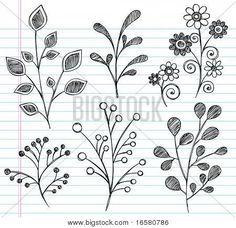 leaf doodles, @Toni Martin Paquette