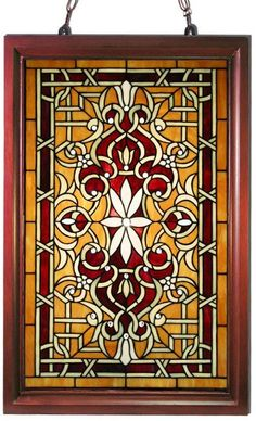 Add a sophisticated and elegant touch to any home or office with the Tiffany-style stained glass window panel. Featuring a gorgeous multicolored traditional design, this beautiful window panel is fram
