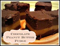 Chocolate Peanut Butter Fudge (No refined sweeteners--sweetened with maple syrup)