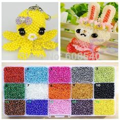 Cheap jewelry making, Buy Quality jewelry jewelry directly from China jewelry diy Suppliers: HOT 15 Colors Glass Seed Spacer Beads Jewelry Making DIY Loom Band Bracelets, Loom Bands, Crochet Necklace, Beaded Necklace, Cheap Beads, Letter Beads, Beaded Chiffon, Glass Necklace, Czech Glass