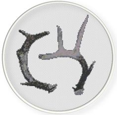 Instant download,free shipping,Cross stitch pattern, Cross-Stitch PDF,vintage deer horns,zxxc0624 by danceneedle on Etsy