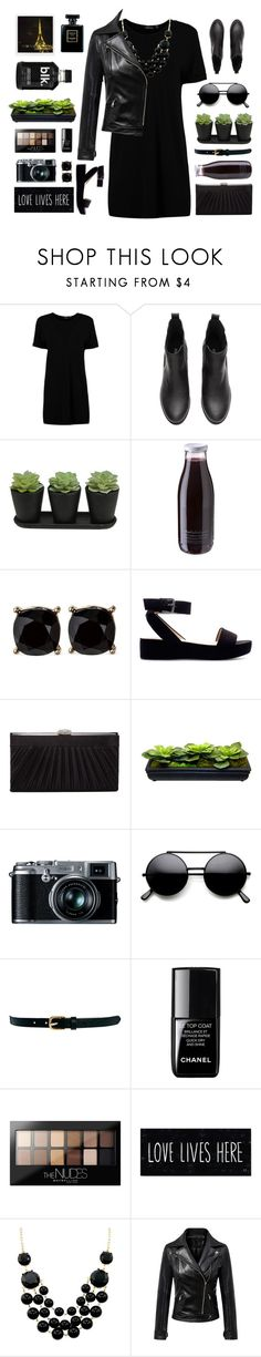 """""""Untitled #1958"""" by tinkertot ❤ liked on Polyvore featuring Boohoo, Daylesford, Zara, Harvé Benard, Retrò, Warehouse, le top, Maybelline and Polaroid"""