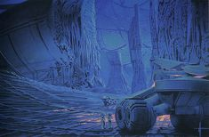 Yamato vehicles inside the ancient facility. The inner sphere charging chamber has exploded melting and vaporizing much of the massive interior.