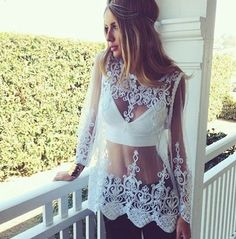 Beautiful Long Sleeve White Top