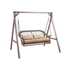 Wicker Patio Swing, GCS00180A At The Home Depot   Mobile