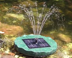 Large Floating Lily Solar Pond Fountain
