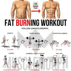 MUSCLEMORPHSUPPS.COM FAT BURNING WORKOUT HIIT LOSE FAT EXERCISE WEIGHT LOSS MUSCLEMORPH