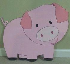 ONE Farm Barnyard animal cutouts Birthday Party Decoration; Sheep, Horse, Pig…