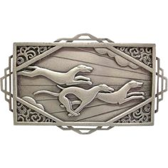 JJ Racing Greyhounds Dogs 1986 Jonette Jewelry