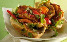 Ανοιχτά σάντουιτς με φιλέτο κοτόπουλου και μανιτάρια Cookbook Recipes, Cooking Recipes, Ratatouille, Sandwiches, Mexican, Chicken, Eat, Ethnic Recipes, Food