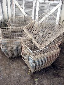ATELIER DE CAMPAGNE: Baskets  from Ile de Re, France, used for harvesting Oysters off the island
