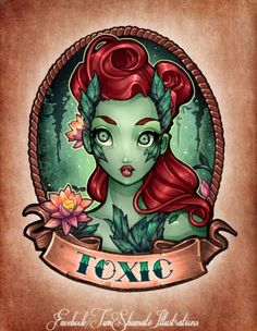 Tim Shumate pin up Poison Ivy tattoo idea. Art Prints, Comics Girls, Tim Shumate, Tim Shumate Illustrations, Illustration, Drawings, Shumate, Art, Disney Tattoos