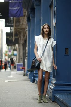 Isabel Marant dress and Dicker boots
