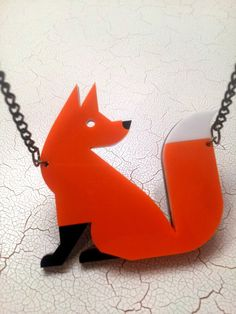 Ginger Fox Pendant Acrylic Laser Cut He is by missJdesigns on Etsy, £15.00