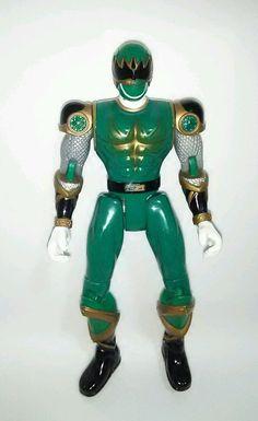 Green Ninja Storm Power Ranger Bandai 2002 Action Figure #Bandai