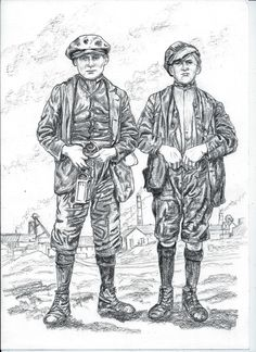 Two young pit lads around 1900.