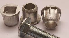 How to insert a carriage bolt fastener into any material.