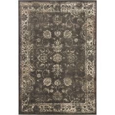 Add warmth and character to your furnishings with this transitional-style soft-anthracite viscose rug featuring an attractive floral pattern with an impressive border. The fringeless design provides a neat finish to enhance your decor.