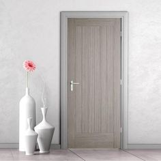Somerset Light Grey Internal Door - Prefinished - July 21 2019 at Grey Doors, Oak Doors, Panel Doors, Screen Doors, Internal Doors Modern, Internal Fire Doors, Internal Wooden Doors, Double Front Entry Doors, Front Doors
