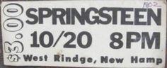 Brucebase - 1973-10-20 - FRANKLIN PIERCE COLLEGE, RINDGE, NH