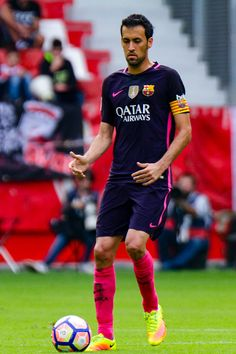 Sergio Busquets of FC Barcelona during the match between Real Sporting de Gijón vs Futbol Club Barcelona at estadio El Molinón on September 24 2016...