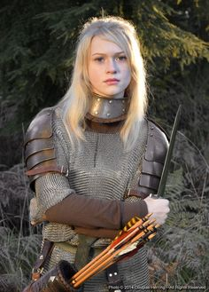 f Fighter Archer Plate Chain armor Longbow Dagger coastal hills forest Oberonsson on Art