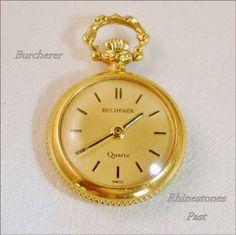 Burcherer Watch Pendant Pocket Quartz Vintage