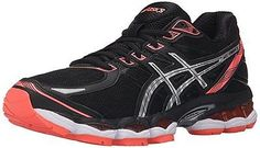 Asics GEL EVATE 3 Womens Running Shoes Size 9.5 NEW BLACK SILVER FLASH CORAL