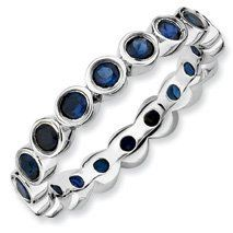 1.61ct Lovingly Yours Silver Stackable Sapphire Ring. Sizes 5-10 Available Jewelry Pot. $59.99. Your item will be shipped the same or next weekday!. 100% Satisfaction Guarantee. Questions? Call 866-923-4446. 30 Day Money Back Guarantee. Fabulous Promotions and Discounts!. All Genuine Diamonds, Gemstones, Materials, and Precious Metals. Save 61%!