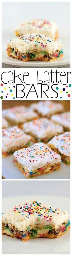 ... Bars on Pinterest  Cake Batter, Funfetti Cake and Healthy No Bake