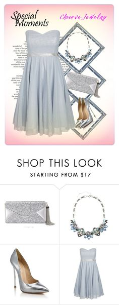 """""""Chicove Jewelry: Beau Monde Collar Necklace"""" by elena-indolfi ❤ liked on Polyvore featuring BCBGMAXAZRIA, Casadei, City Chic, PartyWear, wedding, summerdress and chicove"""